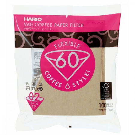 Hario papírové filtry Misarashi pro Dripper V60-02 (100 ks)