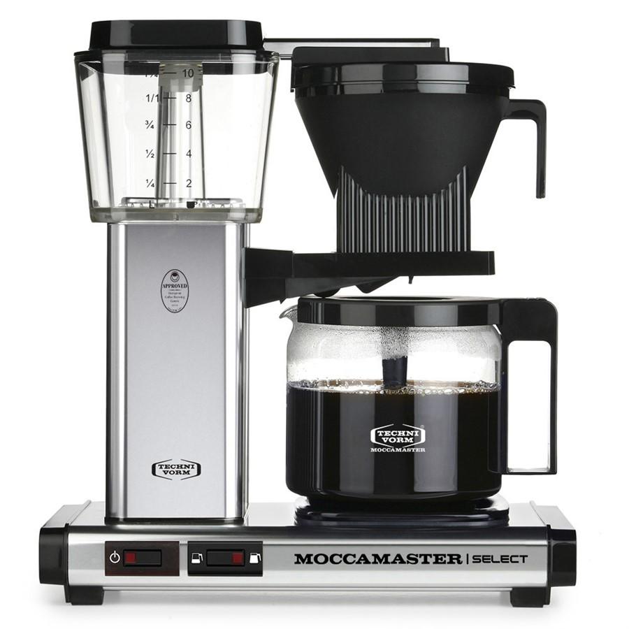Moccamaster KBG Select polished silver/leštěný kov - Kávovar na filtrovanou kávu s nastavitelným držákem filtru