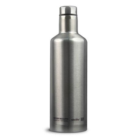 Asobu Time Square cestovní termoláhev 450 ml Silver