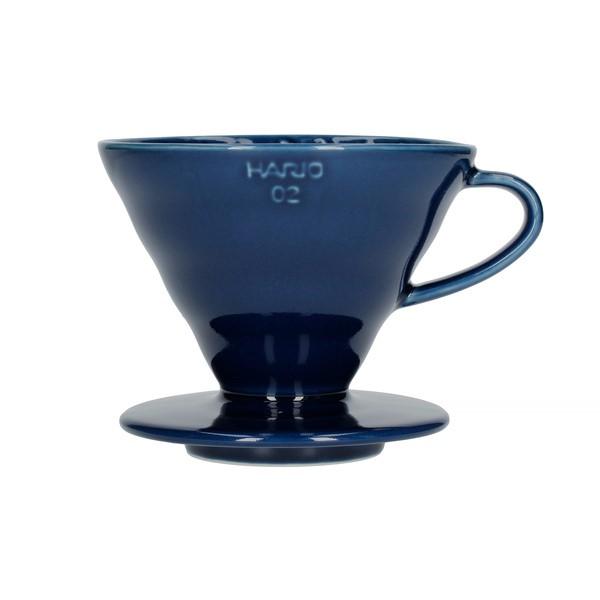 Hario keramický dripper na kávu V60-02 tm. modrý