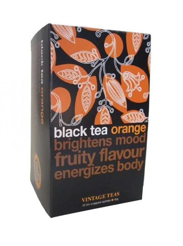 Vintage Teas Černý čaj - Pomeranč - 30x1,5g sáčky