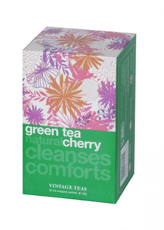 Vintage Teas Zelený čaj – třešeň -30ks x 1,5g sáčky