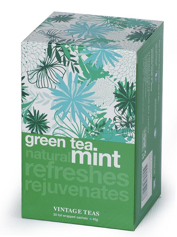 Vintage Teas Zelený čaj – Máta 30 x 1,5 g - sáčky