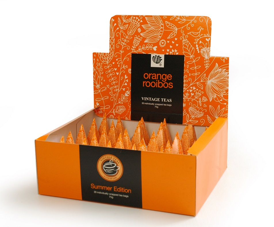 Vintage Teas Rooibos s pomerančem - BOX pyramidy 30 x 2,5g
