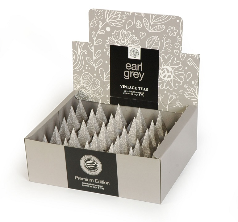Vintage Teas Černý čaj Earl Grey - BOX pyramid 30ks