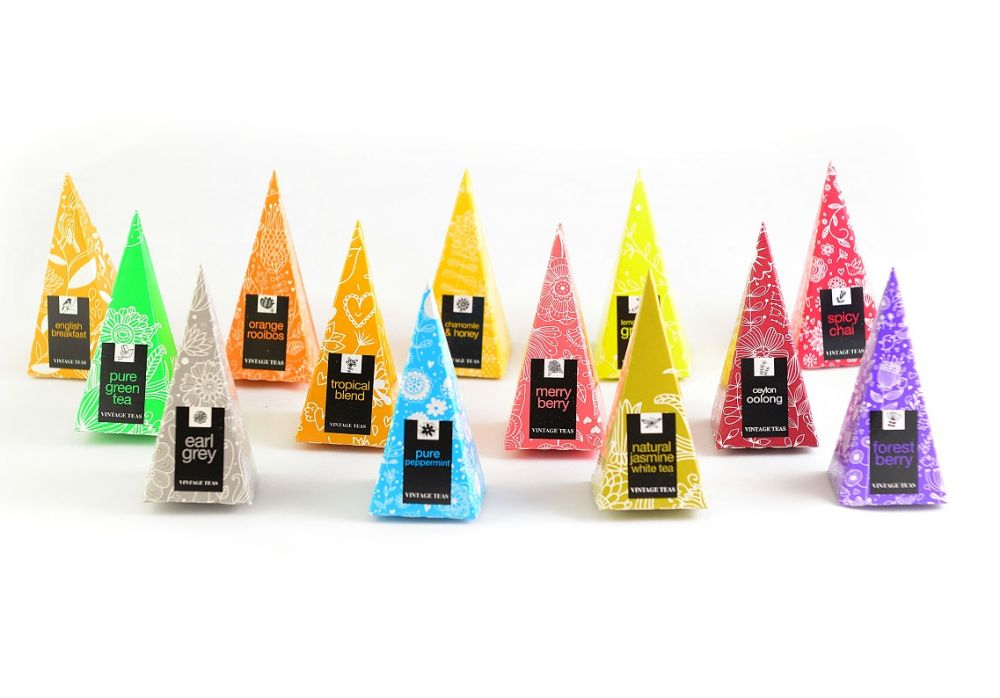 Vintage teas Sada 8x5 pyramid BOX 40ks