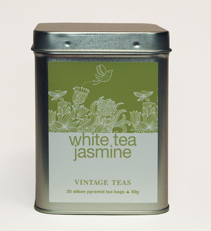 Vintage Teas Bílý čaj a jasmínem - pyramidy 20 ks