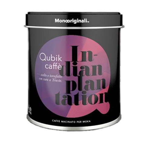 Qubik Caffé Indian Plantation - mletá káva plechovka 125 g
