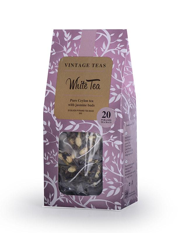 Vintage Teas Bílý čaj s květy jasmínu pyramidy 20 ks