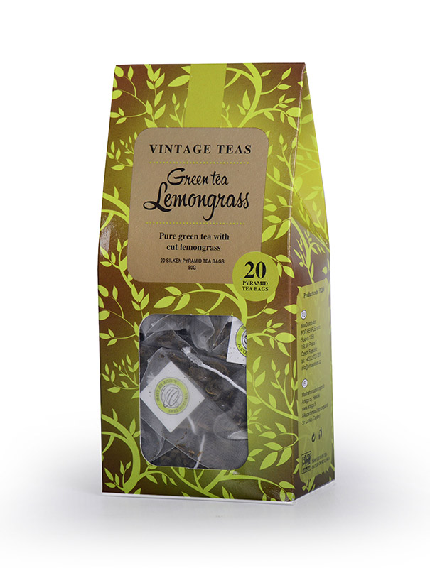 Vintage Teas Zelený čaj s citronelou - pyramidy 20ks