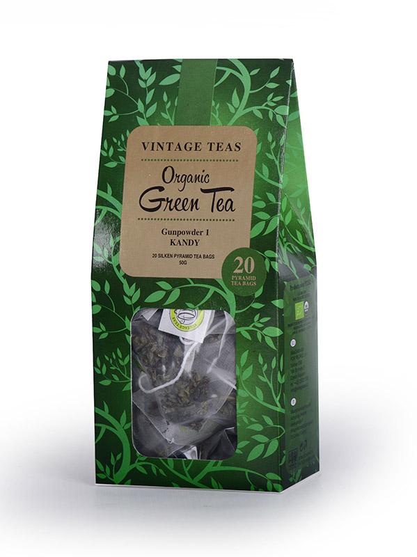 Vintage Teas BIO Zelený čaj pyramidy 20ks x 2,5g