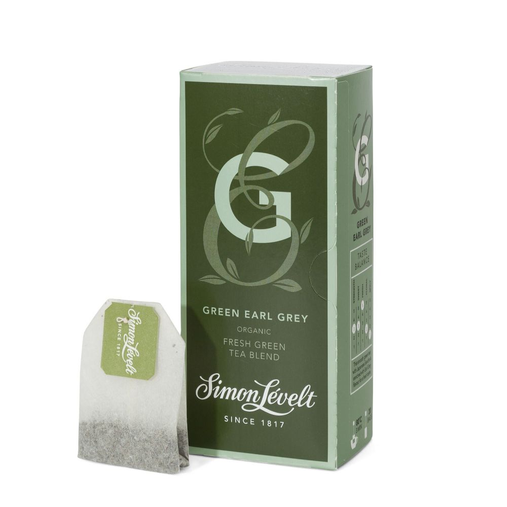 Simon Lévelt Green Earl Grey - zelený čaj Earl Grey (20 x 1,75 g)