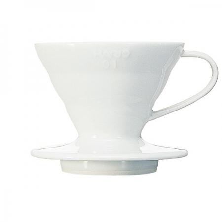 Hario keramický překapávač kávy V60-01 - bílý