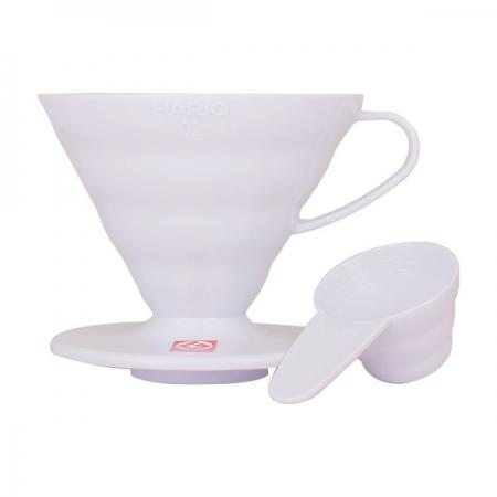 Hario plastový překapávač na kávu V60-02 - bílý