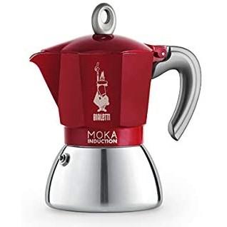 Bialetti Moka Induction kávovar - 4 šálky 160 ml červená