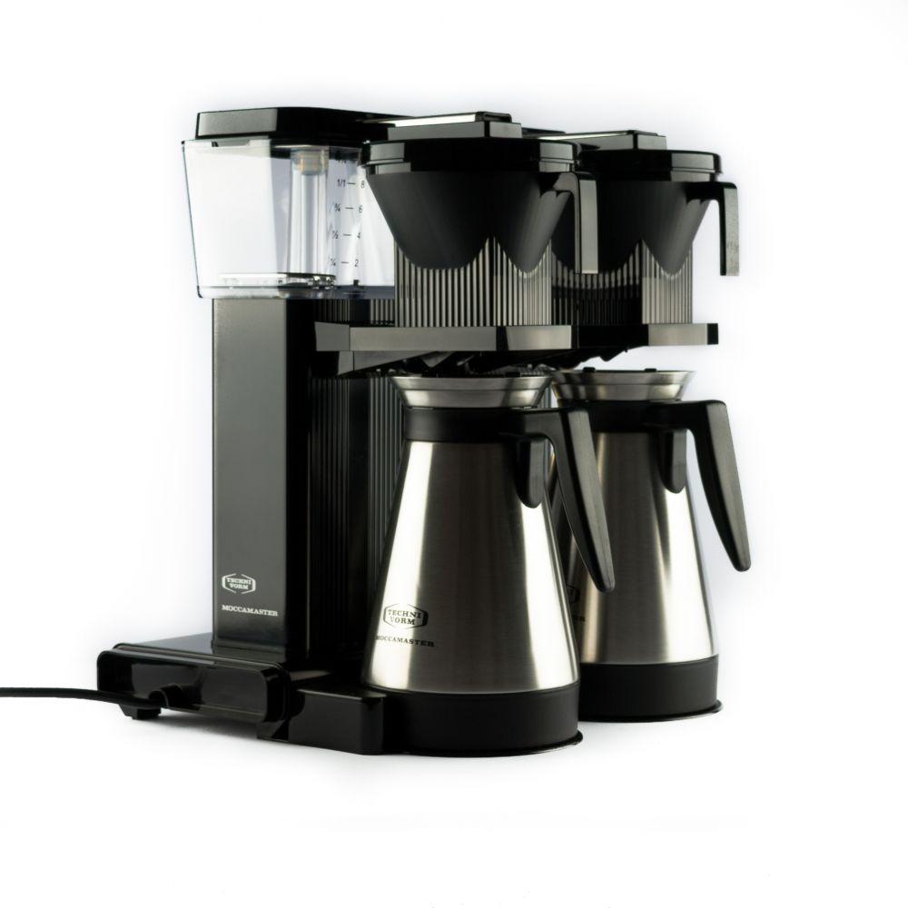 Moccamaster KBGT 20 - dvojitý překapávač na filtrovanou kávu s termoskami