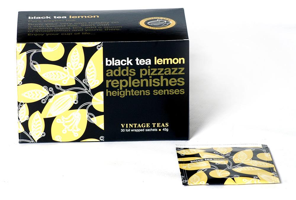 Vintage Teas Černý čaj – Citrón sáčky 30 x 1,5g