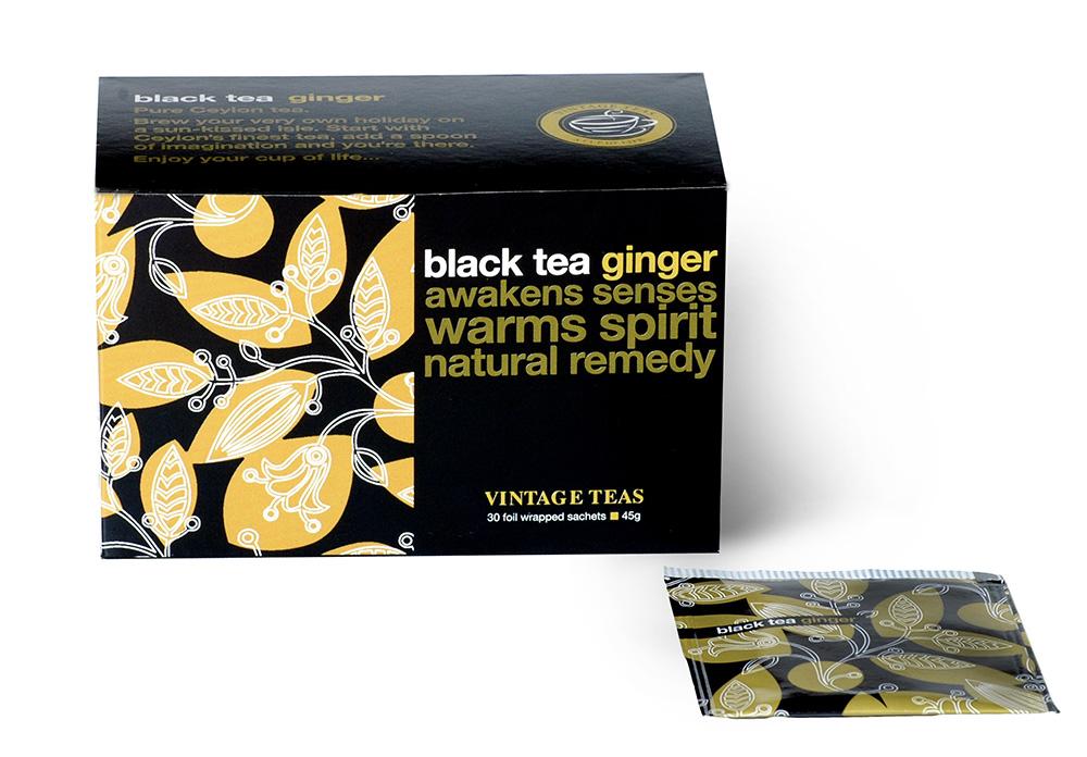 Vintage Teas Černý čaj - Zázvor sáčky 30 x 1,5g