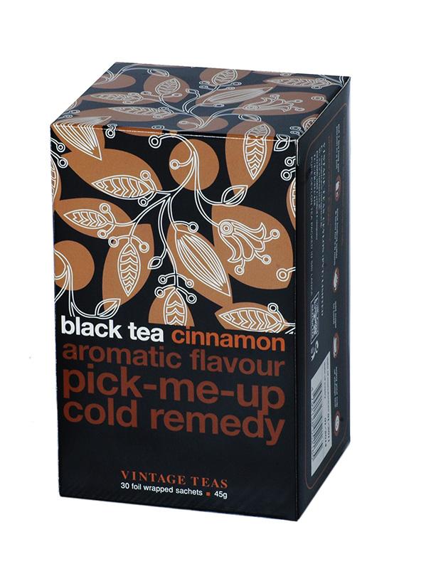 Vintage Teas Černý čaj – Skořice 30x1,5g sáčky