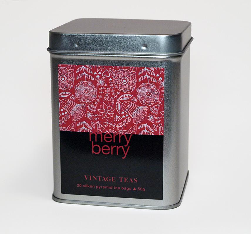 Vintage Teas Merry Berry - černý čaj s aroma lesního ovoce - pyramidy 20 ks