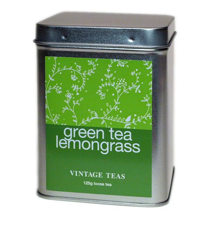 Vintage Teas Zelený čaj s citronelou - kovová krabička 125g