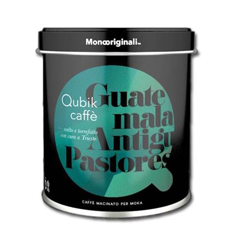 Qubik Caffé Guatemala Antigua Pastores - mletá káva plechovka 125 g