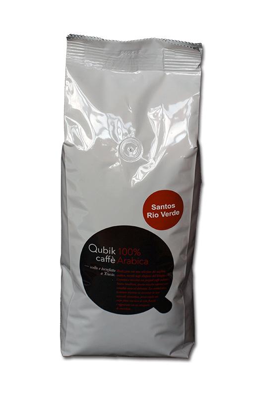 Qubik Caffé Brasilia Santos Rio Verde - zrnková káva 1 kg