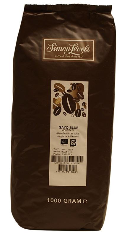Simon Levelt Gayo Blue Mountain - Indonésie - BIO zrnková káva 1 kg