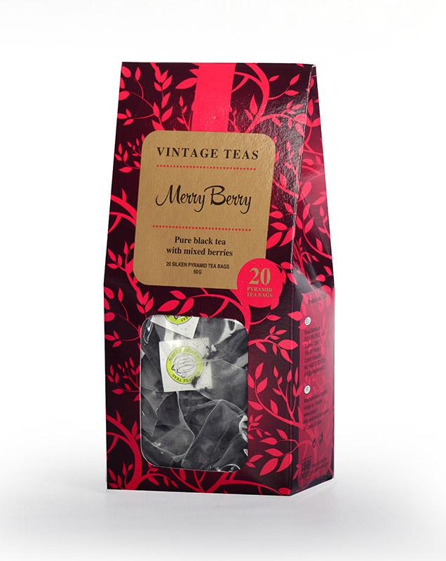 Vintage Teas Merry Berry - černý čaj s ovocem pyramidy 20ks