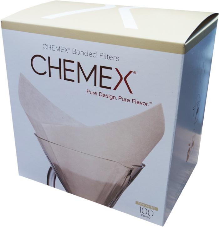 Chemex papírové filtry čtvercové - 6,8,10 šálků (100 ks)