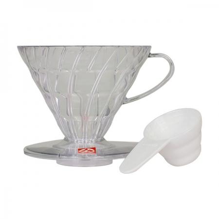 Hario plastový překapávač na kávu V60-02 - čirý