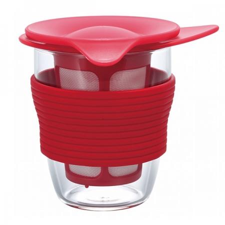 Hario Handy tea maker 200 ml - šálek na čaj červený