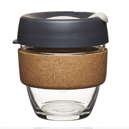 KeepCup Brew Cork Press - skleněný hrnek na kávu 227 ml
